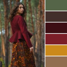 Example of a warm winter palette. Photoe pintrest Livemaster.ru