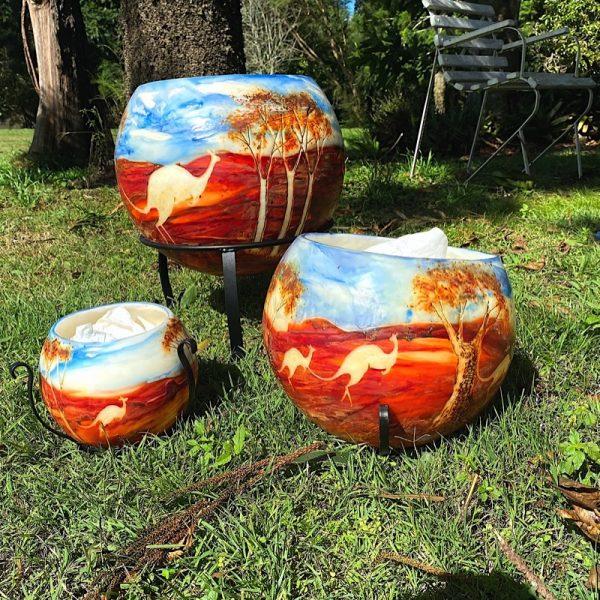 Kangaroo - Australian Landscape Series By Linda Saul
