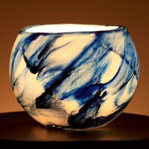 Blue Black Flare Lantern
