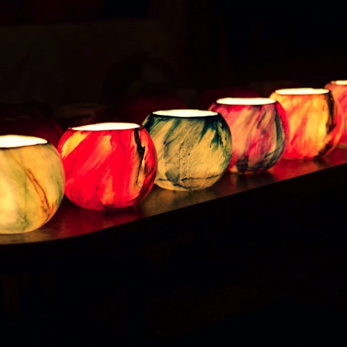 Massed Planet lanterns light up the night. Photo - Artist's personal collection.