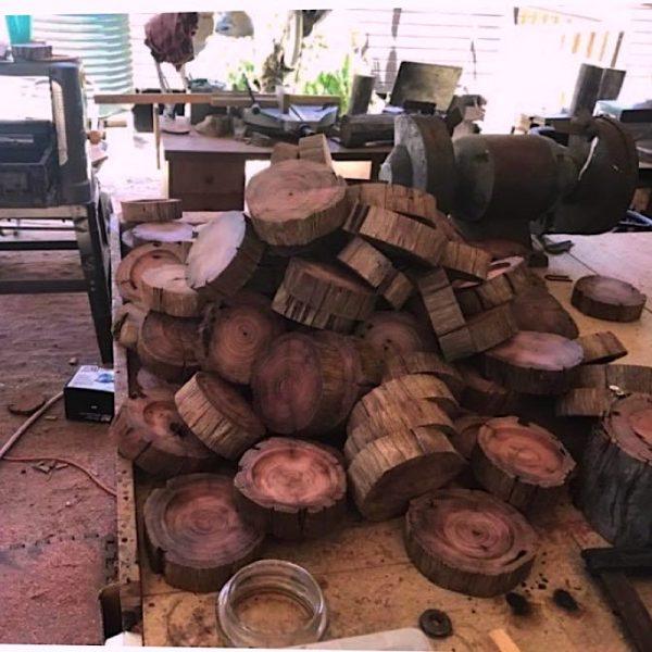 Sustainably gathered Ironbark, milled and ready for polishing.