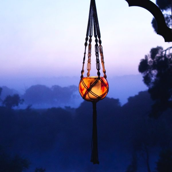 Hand-made Macrame Hangers, one of the three accessories avaliable for your lantern.