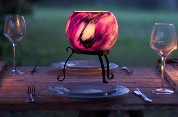 These Stands allow your lantern to sit proud on your table.