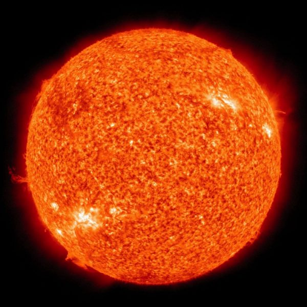 The Sun is the star at the center of our Solar System. It is a nearly perfect sphere of hot plasma, with internal convective motion that generates a magnetic field via a dynamo process. It is by far the most important source of energy for life on Earth. Wikipedia